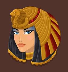 Icon head Cleopatra vector image vector image
