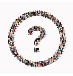 people shape question mark vector image
