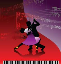 piano and dance vector image vector image
