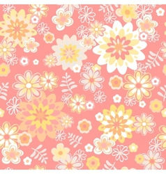 seamless floral background Flower vector image vector image