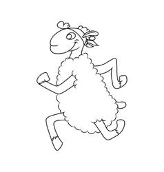 sports lamb vector image