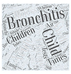 bronchitis child Word Cloud Concept vector image vector image