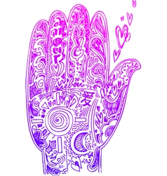 Hand pink doodles vector image vector image