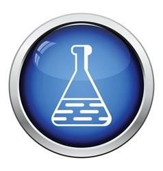 Medical flask icon vector image