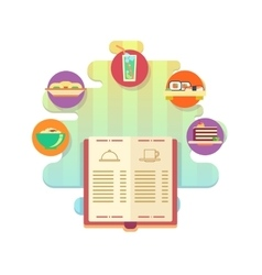 Menu of restaurant or cafe flat style vector image vector image