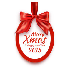 merry christmas and happy new year 2018 round vector image