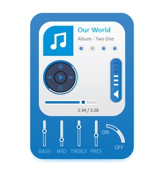Music player 10 vector image