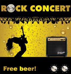 Rock concert free beer wallpaper vector image