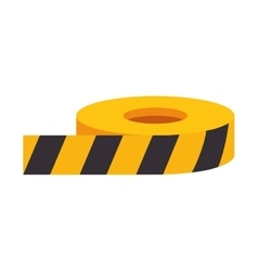 roll of caution tape vector image