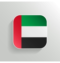 Button - United Arab Emirates Flag Icon vector image