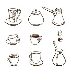 Coffee Accessories vector image vector image