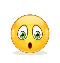Confused emoticon on a white background vector image vector image