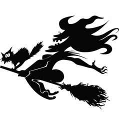 evil witch vector image vector image
