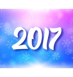 New Year 2017 typography on festive background vector image vector image