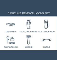 6 removal icons vector