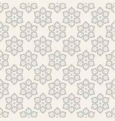 abstract geometric floral ornament seamless vector image