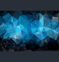 abstract space blue background chaotically vector image
