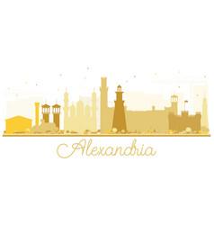 Alexandria egypt city skyline golden silhouette vector