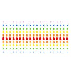 Baht shape halftone spectral grid vector