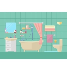 bathroom interior with furniture vector image