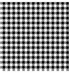 Black white check plaid seamless fabric texture vector