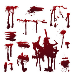blood splashes set vector image
