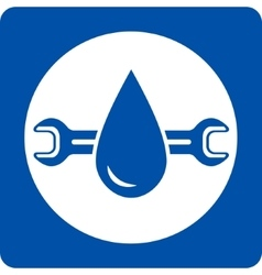 Blue plumbing service icon vector