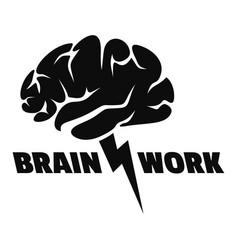 Brain work logo simple style vector