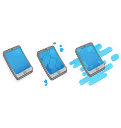 broken smartphone vector image