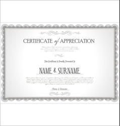 Certificate or diploma retro vintage template 06 vector