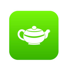 chinese teapot icon digital green vector image