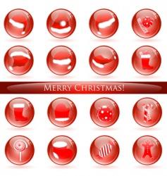 christmas glossy balls vector image