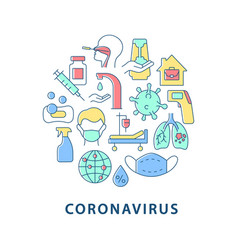 coronavirus abstract color concept layout with vector image