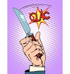 Crime knife arm bandit vector image