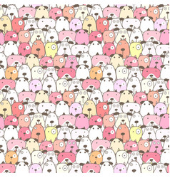 cute dog seamless pattern background vector image