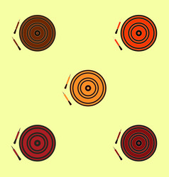 Darts and dartboard collection vector