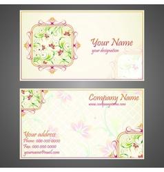 Designer Business Card vector image