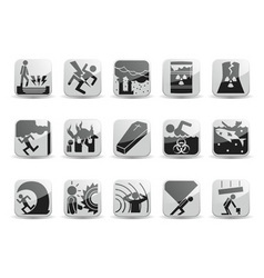 disaster icons vector image
