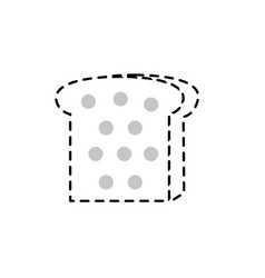 Dotted shape delicious slice bread food nutriion vector