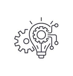 Engineering system line icon concept engineering vector