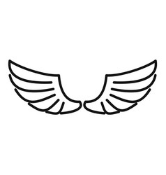 Feather wings icon outline style vector
