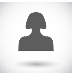 Female avatar flat single icon vector image