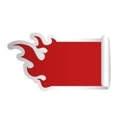 fire flames shape blank red emblem icon image vector image