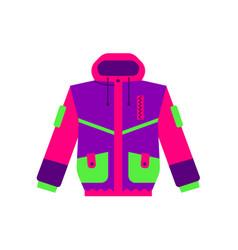 Flat style skiing hiking winter sport jacket vector