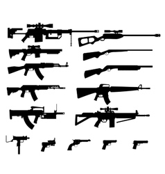Gun set vector