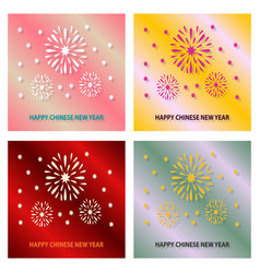 Happy new year 2019 champagne firework midnight vector