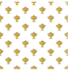 Hockey cup pattern seamless vector
