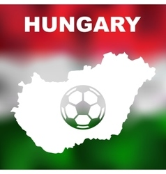 Hungarian Abstract Map vector