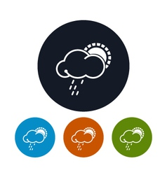 Icon sun with rain vector