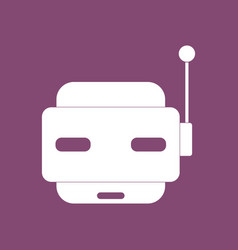 Icon toy robot face vector